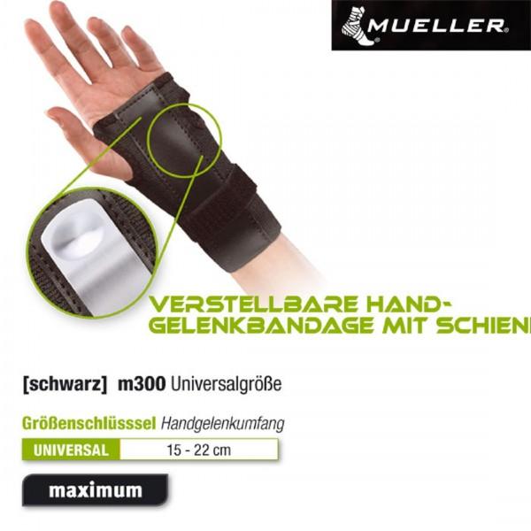 MUELLER Verstellbare Handgelenkbandage mit Schiene