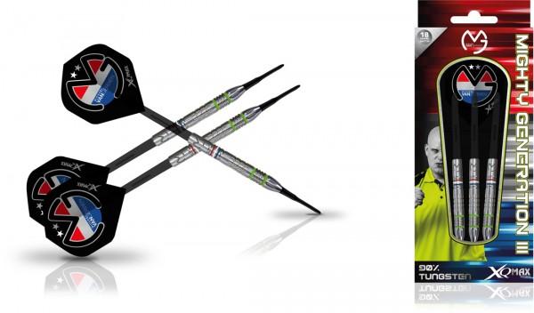 """XQMAX Michael van Gerwen """"Mighty Generation III"""" 90% Soft Darts   18 Gr."""