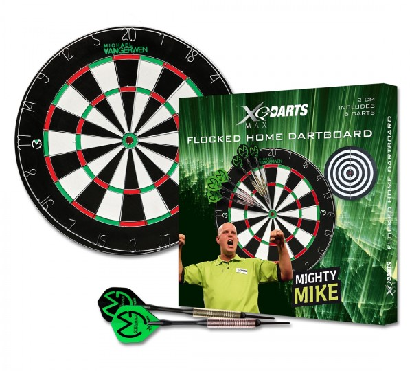 Michael van Gerwen flocked Home Dartboard Set