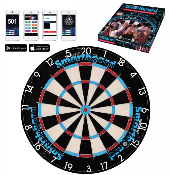 Unicorn Smartboard Bristle, Bluetooth Dartboard, App kompatible Dartscheibe
