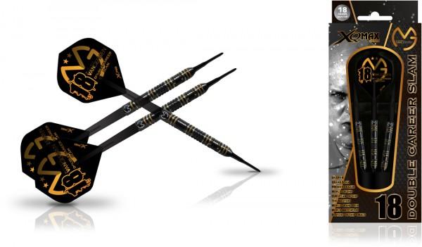 XQMax Michael van Gerwen Double Career Slam Edition 90% Tungsten Soft Darts | 18 Gr.
