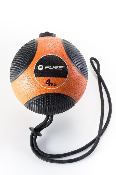 Original Pure 2Improve Medizinball mit Seil | 4 kg