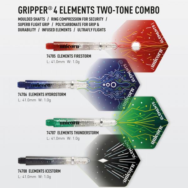 Unicorn Gripper 4 Elements Two-Tone Combo Shaft + Flight