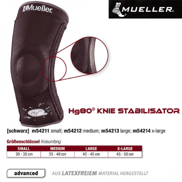 MUELLER Hg80 Knie Stabilisator in schwarz