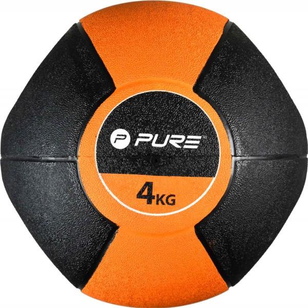 Original Pure 2Improve Medizinball mit Griffen 4 kg | 4 kg