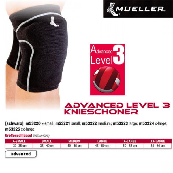 MUELLER Advanced Level 3 Knieschoner in schwarz