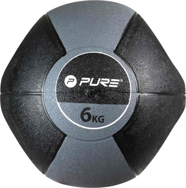 Original Pure 2Improve Medizinball mit Griffen 6 kg | 6 kg