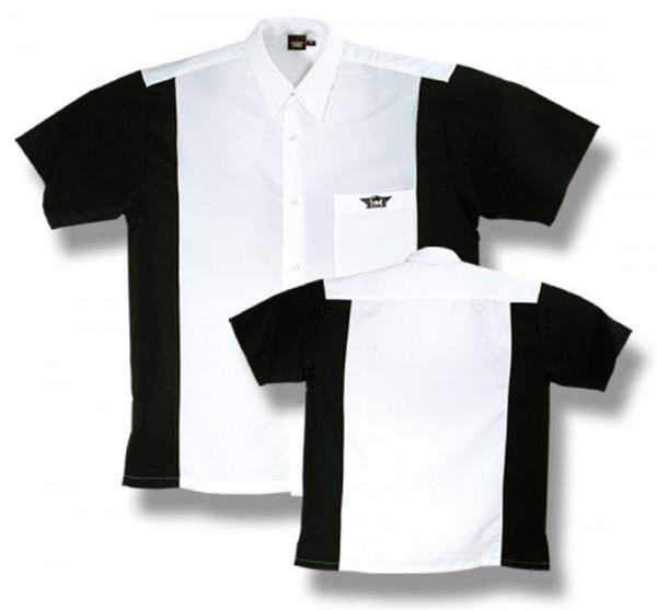 BULL'S Dartshirt Weiß/Schwarz