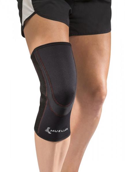 MUELLER Kniebandage ohne Patellaöffnung, atmungsaktiv, schwarz
