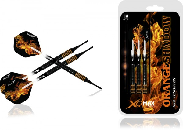 XQ MAX Orange Shadow 80% Tungsten Dartset Softtip | 18 Gr.