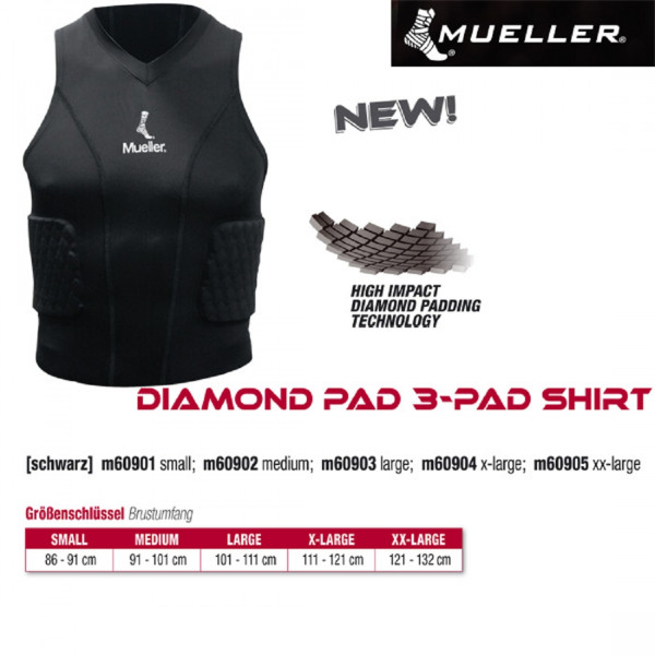 MUELLER Diamond Pad 3-Pad Shirt