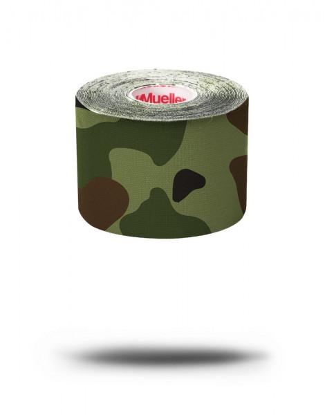 MUELLER Kinesiology Tape Pre-Cut grün Camo