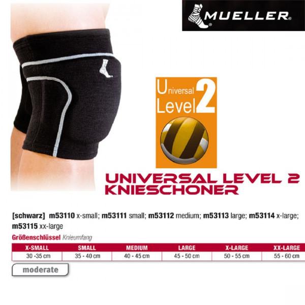 MUELLER Universal Level 2 Knieschoner in schwarz