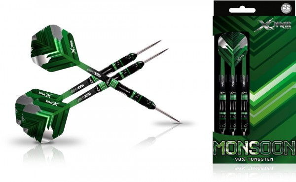 XQ MAX Monsoon 90% Tungsten Dartset Steeltip
