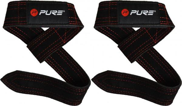 Original Pure 2Improve Buffalo Leather Lifting Straps, Hebebänder, Zughilfen aus Büffelleder