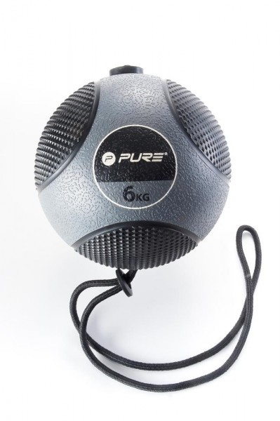 Original Pure 2Improve Medizinball mit Seil | 6 kg