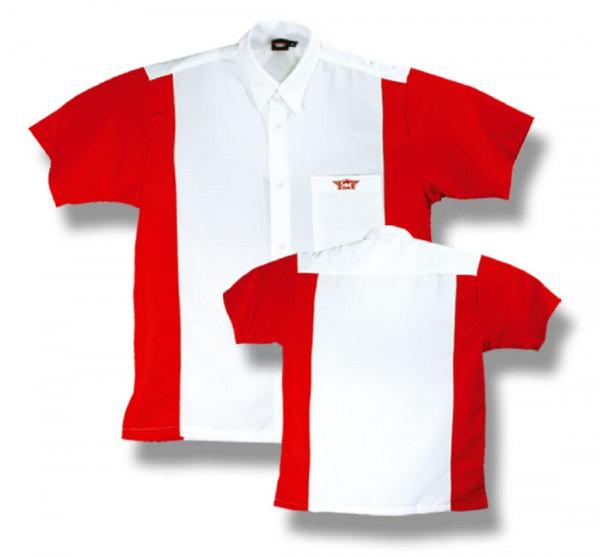 BULL'S Dartshirt Weiß/Rot