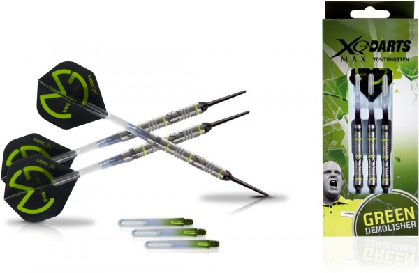 "XQMAX Michael van Gerwen ""Green Demolisher"" 70% Soft Darts 