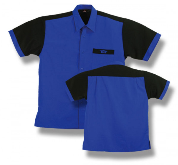 BULL'S Dartshirt Blau/Schwarz