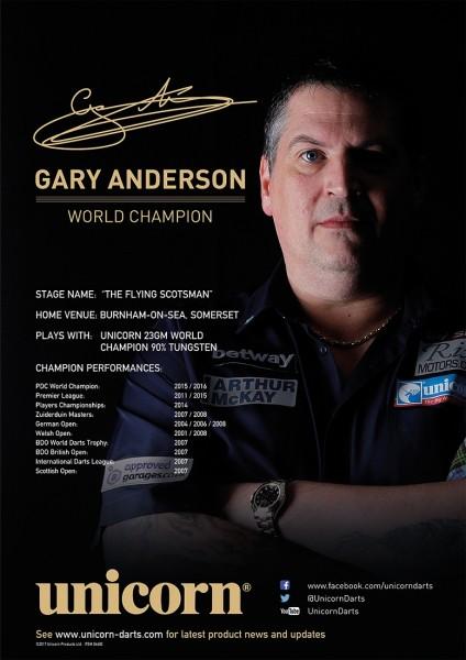 Unicorn Poster Player Statistics Gary Anderson
