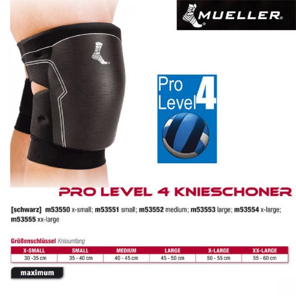 MUELLER Pro Level 4 Knieschoner in schwarz