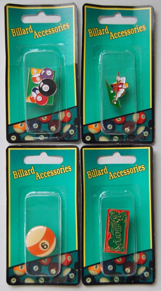 Anstecker: Billard