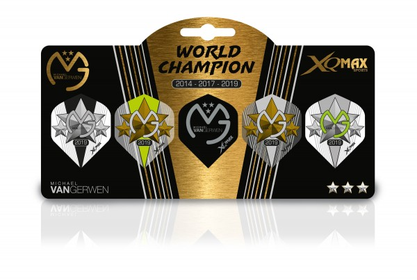 XQ Max Michael van Gerwen Flights Multi Pack WC 2019 Edition | Standard A