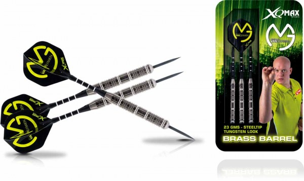 Michael van Gerwen Brass Steel Darts im Tungsten Look | 23 Gr.