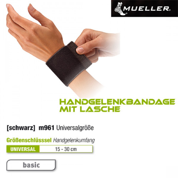 MUELLER Handgelenkbandage mit Lasche | Universal