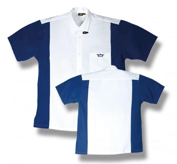 BULL'S Dartshirt Weiß/Blau