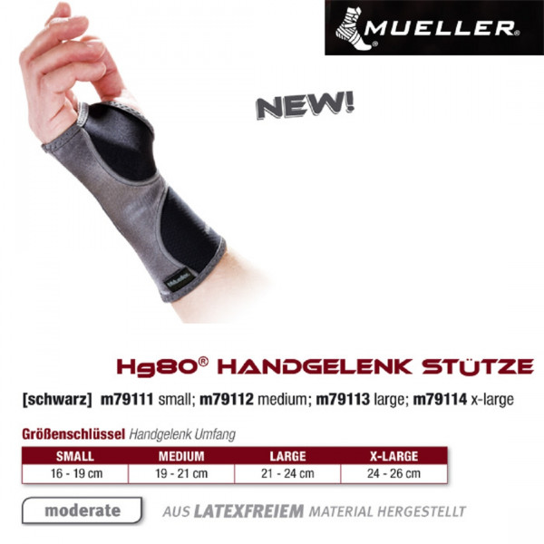 MUELLER Hg80 Handgelenk Stütze