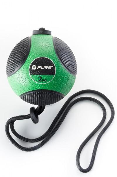 Original Pure 2Improve Medizinball mit Seil | 2 kg