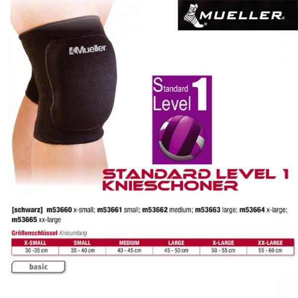 MUELLER Standard Level 1 Knieschoner in schwarz
