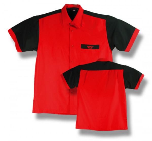 BULL'S Dartshirt Rot/Schwarz