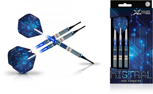 XQ MAX Mistral 90% Tungsten Dartset Softtip | 18 Gr.