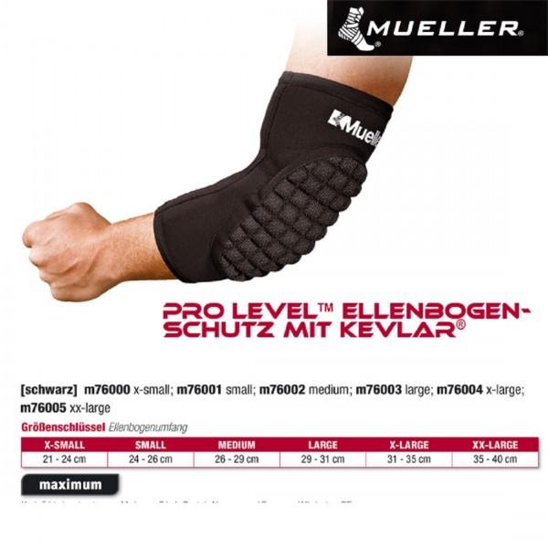 MUELLER Pro Level Ellenbogenschutz mit Kevlar